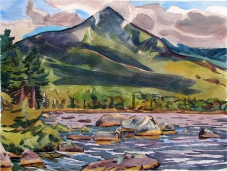 Katahdin from Sandy Stream Pond