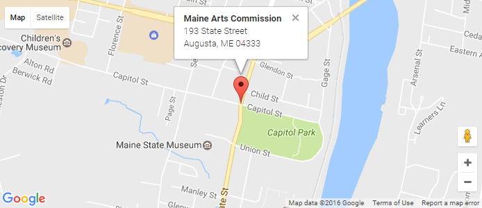 Google Map Maine Arts Commission